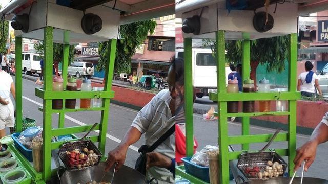Hindari Pembeli Nakal, Tukang Gorengan Pasang CCTV di Gerobak Dagangan