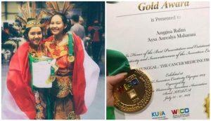 Raih medali emas dan juara di ajang olimpiade sain internasional