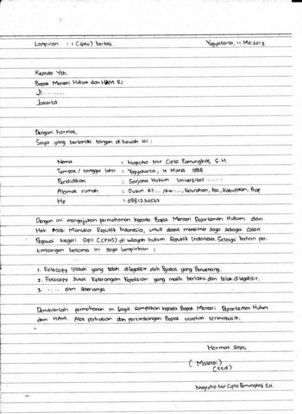 Contoh Surat Sakit Tulisan Tangan
