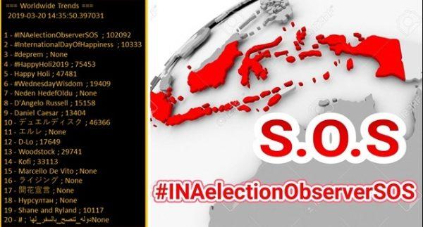 Tagar #INAelectionObserverSOS Trending Topic Dunia