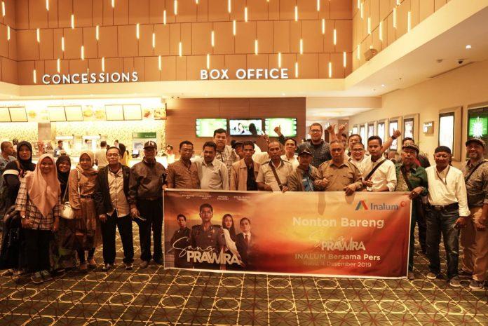 Inalum Ajak Jurnalis Nonton Bareng Film Sang Prawira