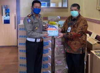 Dukung Ops Ketupat Toba 2020, Bank Sumut Bantu Masker dan Vitamin Petugas Kepolisian