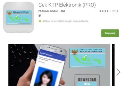 Cek NIK KTP Secara Online Melalui Aplikasi